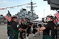 US Navy 070616-N-6897L-020 Members of the Staten Island Pipe and Drum Corps perform at USS The Sullivans (DDG 68) 10th Anniversary Ceremony.jpg