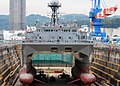 US Navy 070913-N-2638R-003 Military Sealift Command (MSC) ocean surveillance ship USNS Effective (T-AGOS 21) sits in dry dock at Commander Fleet Activities Yokosuka.jpg