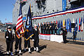 US Navy 080209-N-5191L-006 The honor guard passes by the official party at the conclusion of the change of command for the USS Chancellorsville (CG 62).jpg