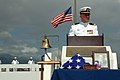 US Navy 080923-N-4965F-059 Lt. Corey Thornton addresses guests during a burial and ashes scattering ceremony to honor Pearl Harbor survivor Chief Carpenter's Mate Herbert B. Power.jpg
