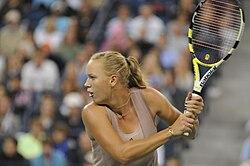 Danskan wozniacki spelar semifinal pa stadion