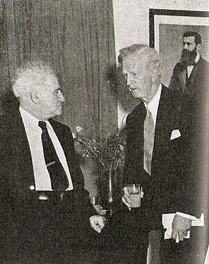 James Grover McDonald - Image: US Special Representative James Mc Donald meets with PM David Ben Gurion in 1948