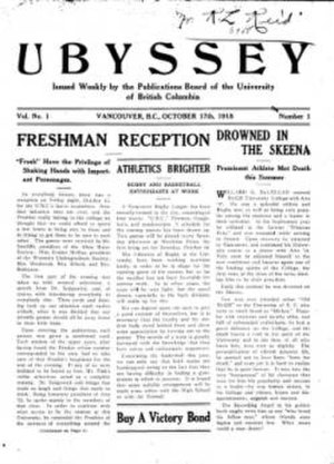 The Ubyssey - Ubyssey, October 17, 1918