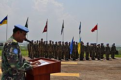 """Ukrainian national contingent in DR Congo camp """"Bunia"""" awarded UN medals """"For Service to Peace"""" (26772583670).jpg"""