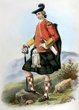 "Clan Kennedy - ""Ulric"". A Victorian era, romanticised depiction of a member of the clan by R. R. McIan, from The Clans of the Scottish Highlands, published in 1845. Carrick was in the Scottish Lowlands"