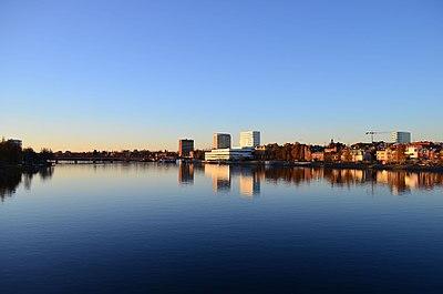 Umeå från Umeälven'