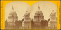 United States Capitol, with Statue of Washington in the foreground, by L. Cudlip 2.png