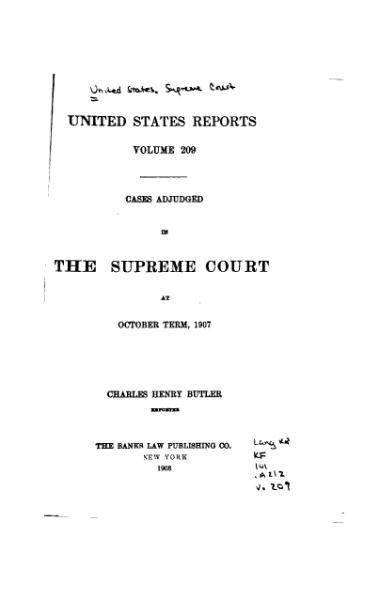 File:United States Reports, Volume 209.djvu