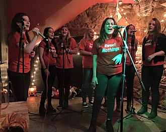 A cappella - The Sweet Nothings are one of the University of Exeter's eight A Capella groups. They are one of the oldest and most successful girl groups in the UK