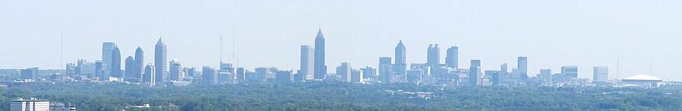 Midtown and Downtown Atlanta as seen from Cobb and Paulding County in Georgia. Cumberland Area skyline The Perimeter Center skyline