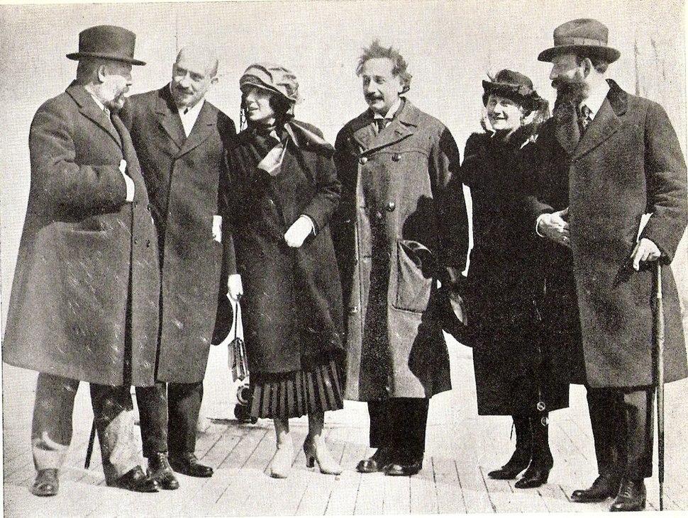Ussishkin Weizmann Einstein Mossenson April 1921