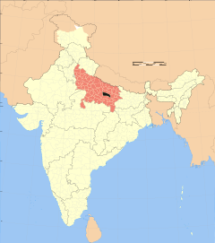 Uttar Pradesh district location map Sultanpur.svg