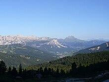 Val Badia dal passo di Valparola.