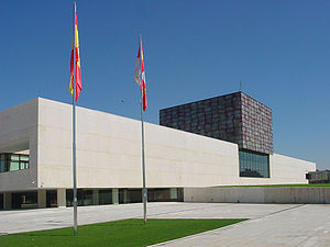 Cortes of Castile and León - The exterior of the new Cortes building, opened in 2007, in Valladolid.