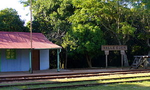 Valle Edén - Train station at Valle Edén
