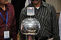 Van de Graaff Generator Experimentation - Indo-Finnish-Thai Exhibit Development Workshop - NCSM - Kolkata 2014-11-27 9754.JPG