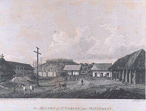 La misión de San Carlos Borromeo de Carmelo in 1792.