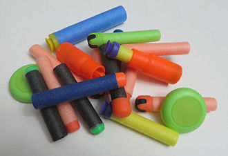 Nerf Blaster - Various types of ammunition for Nerf and non-Nerf guns.