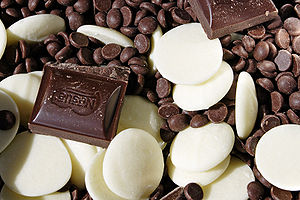 Various types of chocolate.