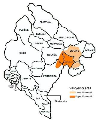 Vasojevići - Area in Montenegro inhabited by the Vasojevići