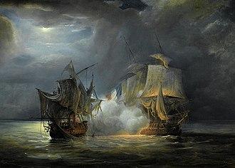 Mauritius campaign of 1809–1811 - Ceylon and Vénus, Pierre Julien Gilbert, 1835