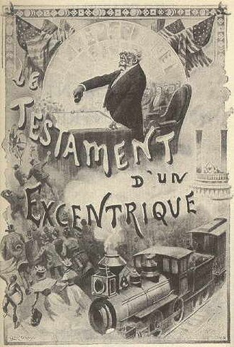 The Will of an Eccentric - Frontespiece of the french original edition