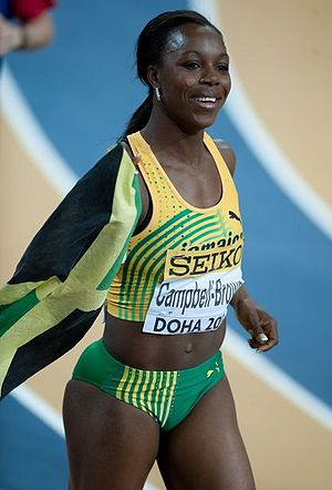 Veronica Campbell-Brown during Doha 2010 World...