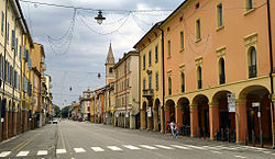 The Via Emilia in Castelfranco Emilia