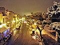 Via dei Mille e l'ingresso della villa Comunale sotto la nevicata del 2015.jpg