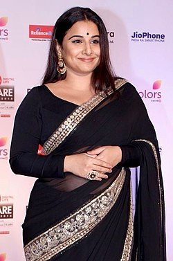 Vidya Balan at the 63rd Filmfare Awards.jpg