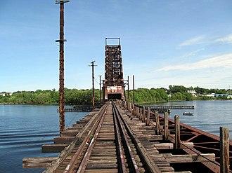 Crook Point Bascule Bridge - View across the bridge in 2017