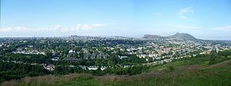 Blackford Hill - Panoramic view of Edinburgh from Blackford Hill (click for larger image)