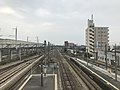 View from overpass of Araki Station (Kagoshima Main Line).jpg