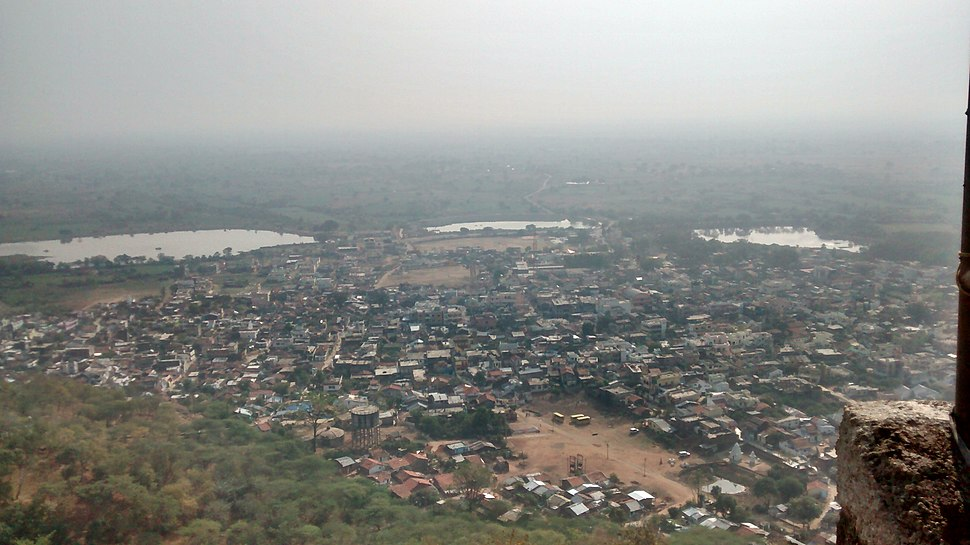 View of Ramtek city from the temple