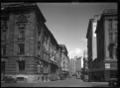 View of Wellington City along Featherston Street with the General Post Office on the left looking towards Lambton Quay ATLIB 327709.png