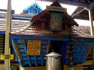 Thiruvilwamala town in Kerala, India