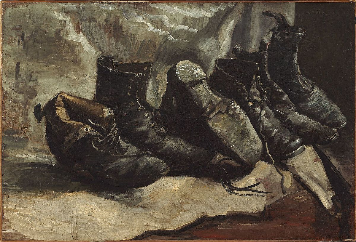 Three pairs of shoes, 1886 (Fogg Art