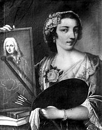 Violante Betrice Siries Cerrotti - Self-portrait in Uffizi Gallery.jpg