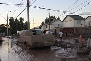 2015 Northern Chile floods and mudflow - Image: Visita zona de emergencia Región de Atacama 2