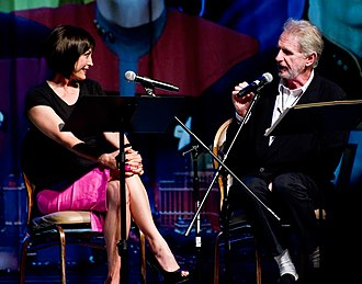 Nana Visitor - Visitor with Star Trek: Deep Space Nine co-star René Auberjonois at a 2011 Star Trek convention in Las Vegas