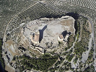 Alcalá la Real - Aerial view of the La Mota fortress.