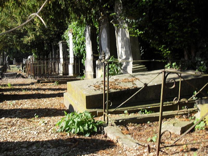 France, Vitry-le-François, Marne (51) - tombes du cimetière israélite de la Jouette.
