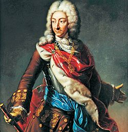 Vittorio Amedeo II di Savoia che fece trasformare radicalmente il complesso di Stupinigi per edificarvi una reggia degli svaghi dedicata alla caccia