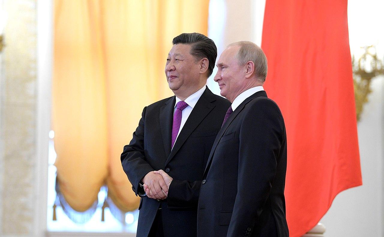 Vladimir Putin and Xi Jinping (2019-06-05) 03.jpg