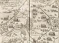 Vogelvlucht van de stad Rijnberk aan de Rijn met versterkingen - Siege of Rheinberg in 1597 by Maurice of Orange (Johannes Janssonius, 1651).jpg