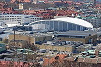 Scandinavium and Valhallabadet in May 2013