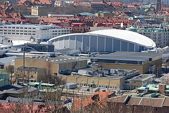 Scandinavium - Scandinavium with Valhalla Swimming Hall in the foreground