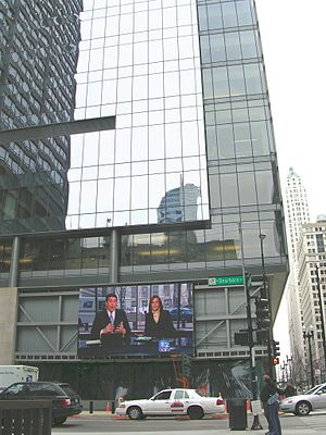 WBBM-TV - WBBM-TV's studios at Washington Boulevard and Dearborn Street, across from Daley Plaza.
