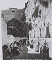 WORSHIPPERS AT THE WESTERN WALL (WAILING WALL) IN THE OLD CITY OF JERUSALEM. (COURTESY OF AMERICAN COLONY) מתפללים בכותל המערבי בעיר העתיקה בירושלים.D826-061.jpg