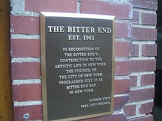 The Bitter End - Landmark status granted on July 23, 1992.